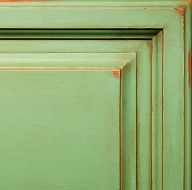 Зеленый + скрэп + патина