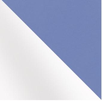 Белый матовый/ голубой метал